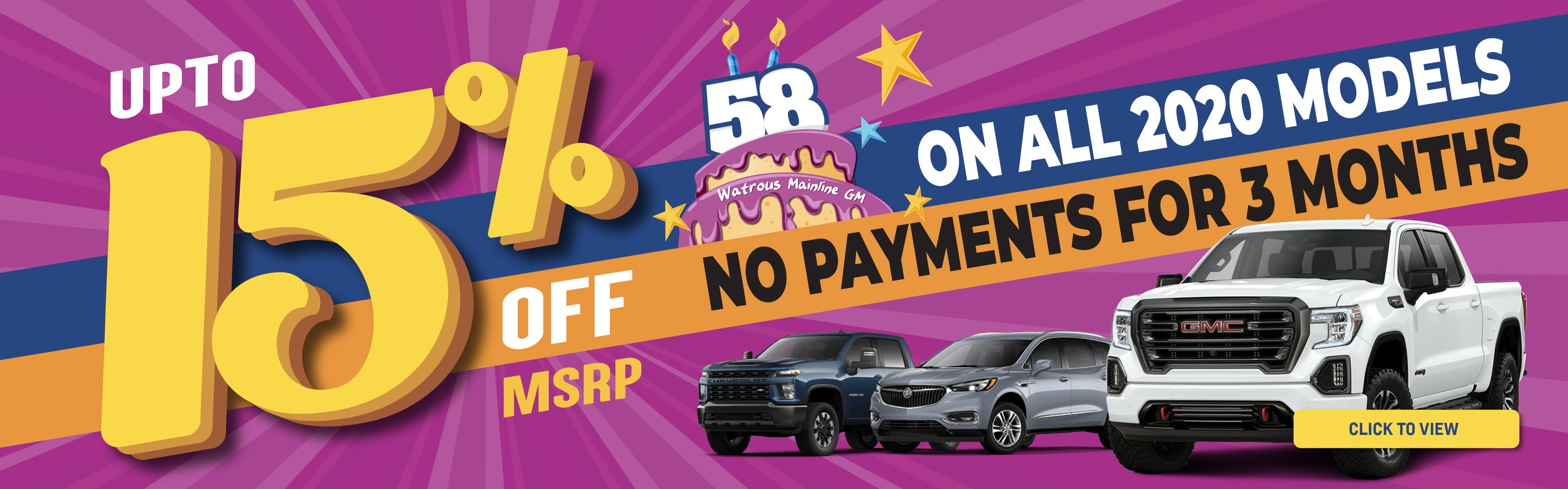 Save up to 15% on 2020 Vehicles at Watrous Mainline GM