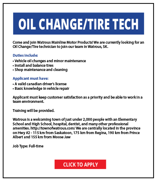 Wanted Oil Change-Tire Tech